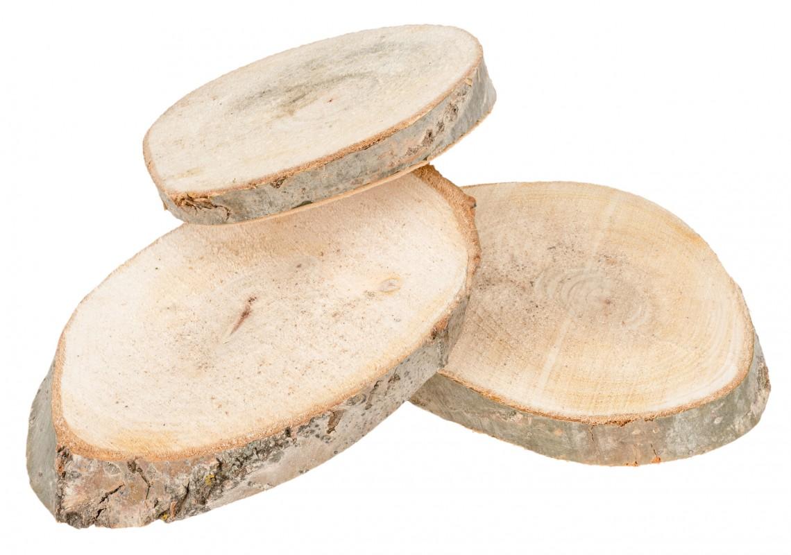 Holzscheiben oval 15 20cm 3 st ck - Deko aus holzstamm ...